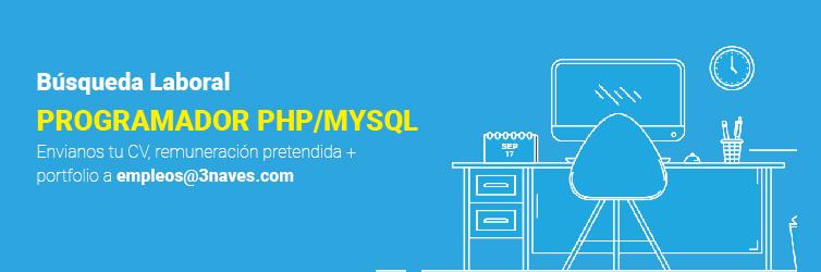 Desarrollador PHP/MYSQL