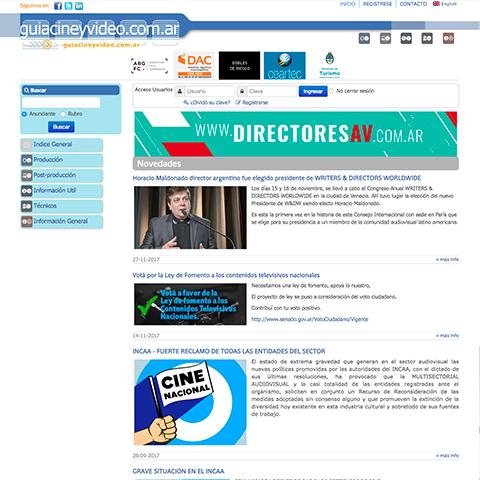 Guia de Cine, Video & Artes Audiovisuales